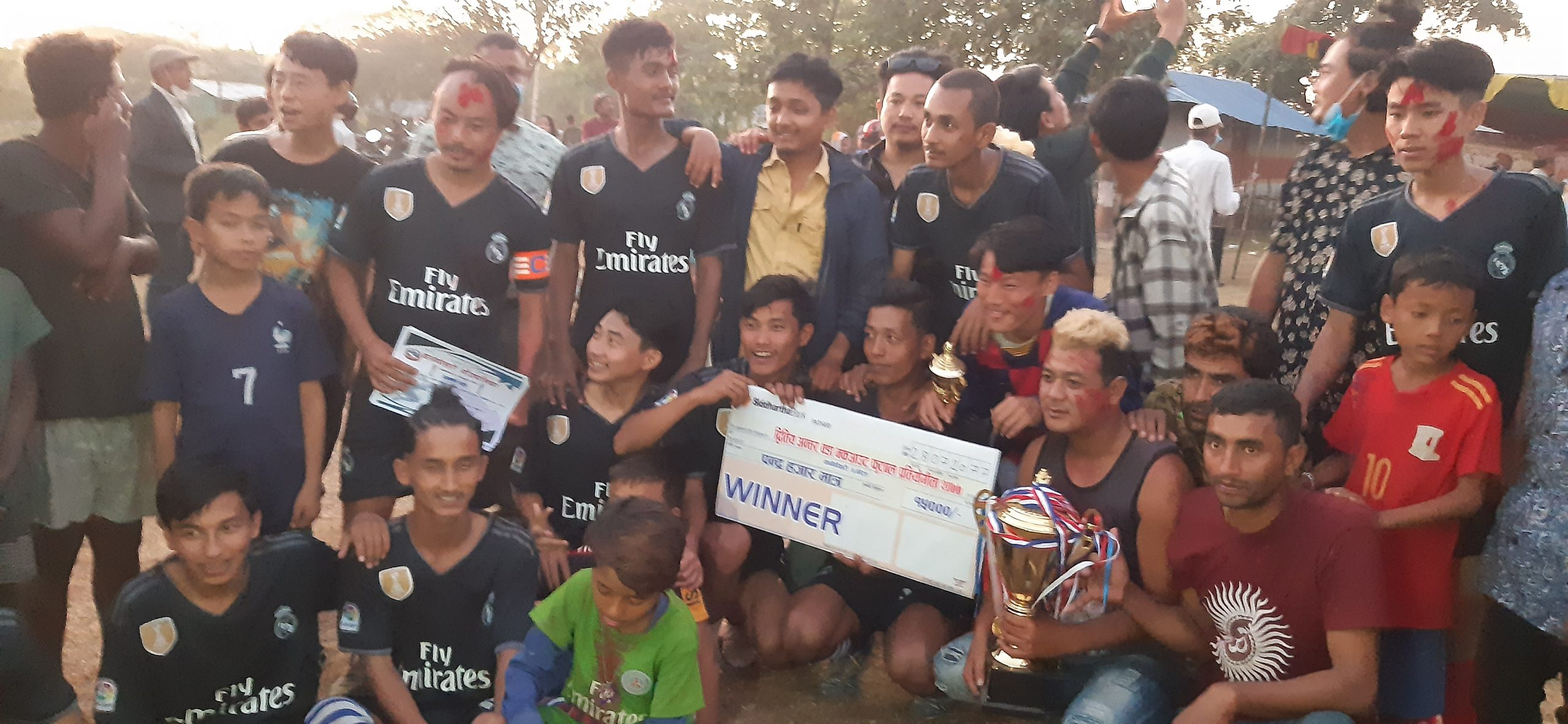 दोस्रो अन्तर वडा फुटबल प्रतियोगिताको उपाधि मातृभूमि क्लबले जित्यो
