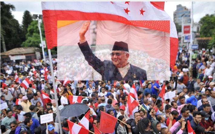 'कांग्रेसको विरोध प्रदर्शनमा 'केपी ओली जिन्दाबाद' भन्दै नारा घन्किएपछि… (भिडियोसहित)