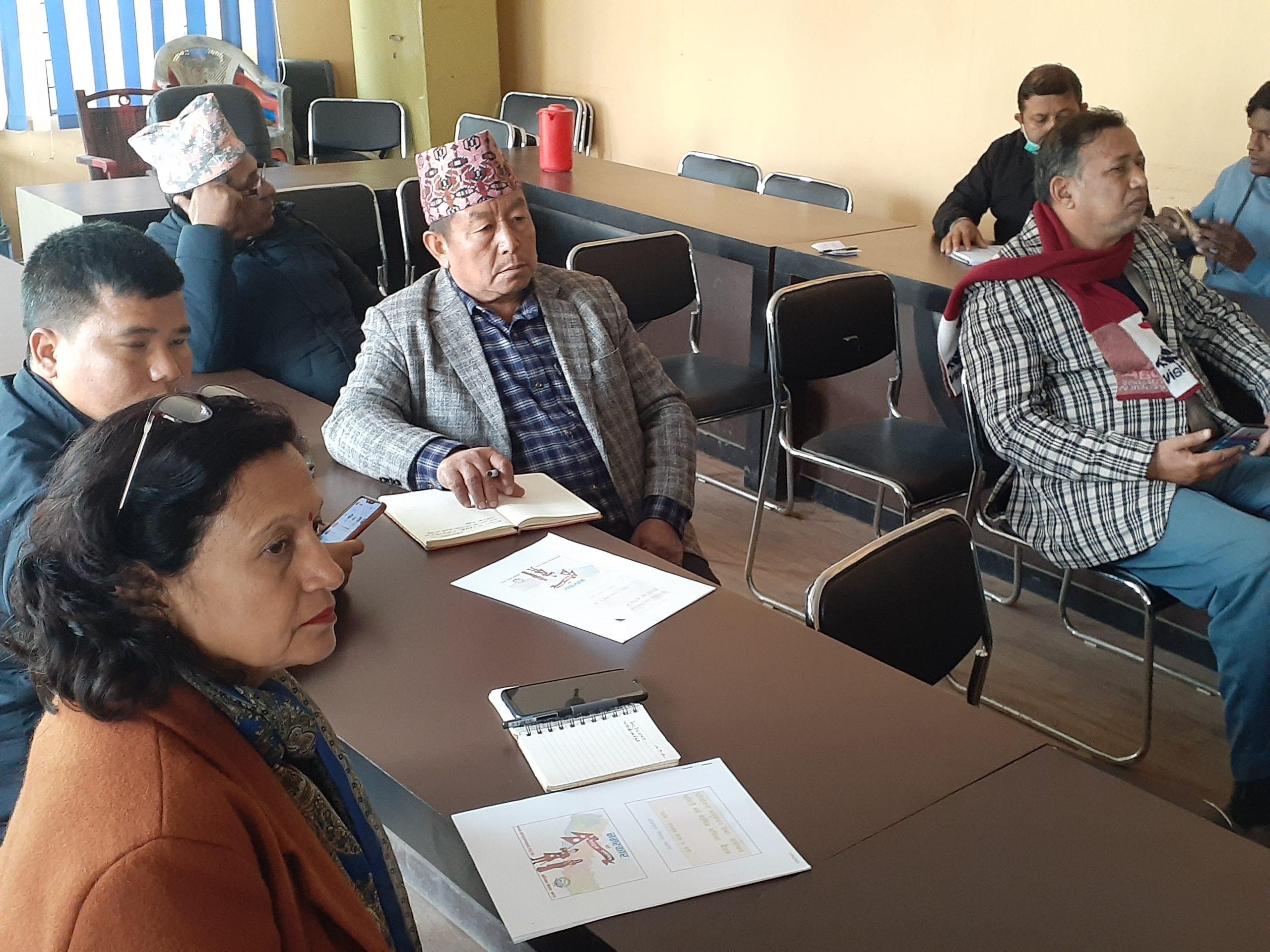 परियोजनाको अनुगमन तथा समन्वय समितिको समीक्षा