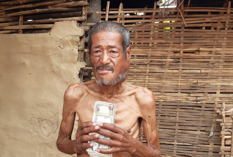 क्यान्सर पीडित मानबहादुरलाई मलेसियाबाट आर्थिक सहयोग